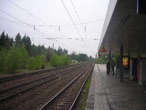 Planegg S-Bahn állomás, a négyvágányos szakaszok egyike