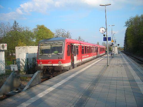 Az A jelű S-Bahn járat Dachauban. München egyetlen dízel-s-bahn vonala
