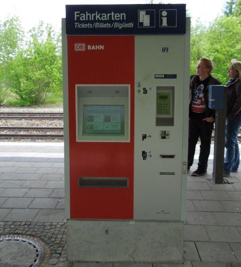 S-Bahn jegyautomata