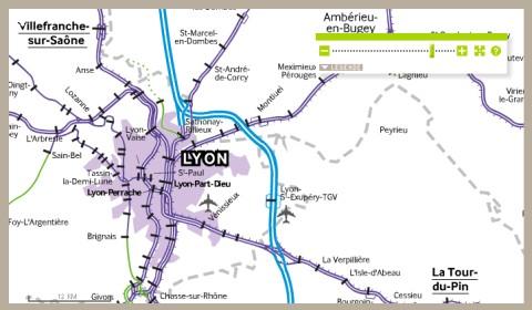 TGV térkép