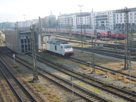 Bombardier dízel-TRAXX a Müncheni főpályaudvaron