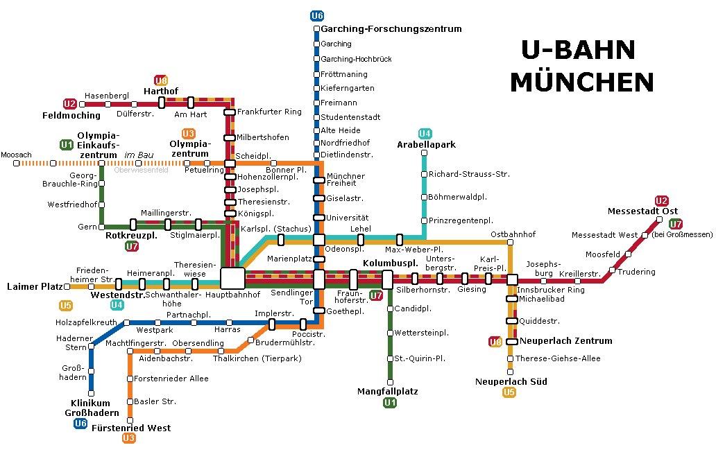 A Muncheni U Bahn Vonattal Termeszetesen