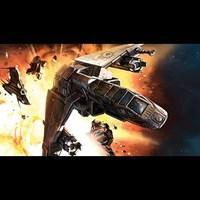 Rhymer vezette TIE-Bomber swarm a Vaksai Kihraxz-okat vezető  Xizor Mark 2-es Viragoja ellen