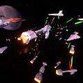 Csillagok háborúja űrcsata festmény a Tilt Brush-ban