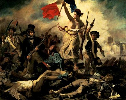 Delacroix: A Szabadság a barikádokra vezeti a népet