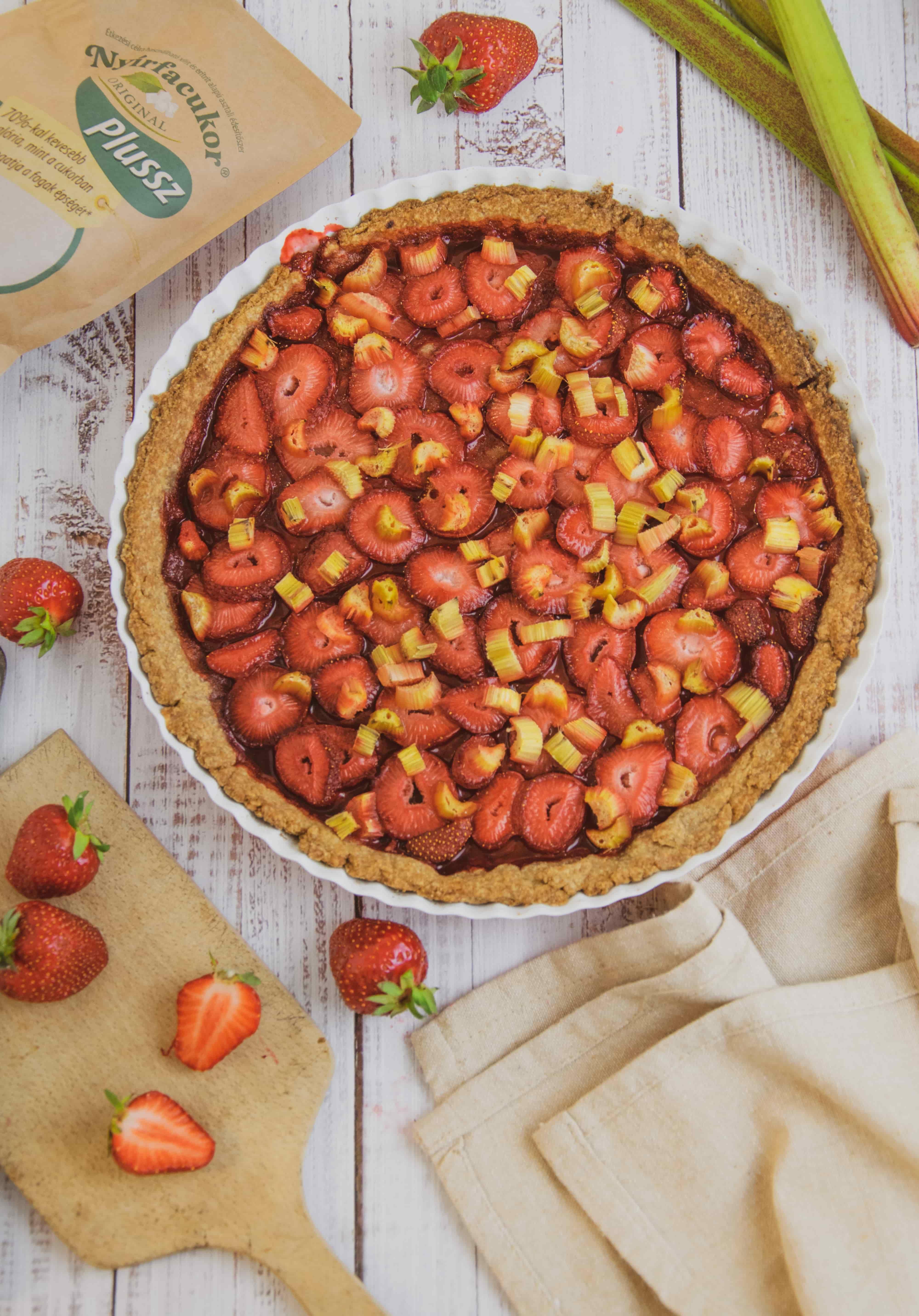 Cukormentes epres-rebarbarás pite