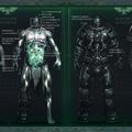 Űrgárdista testének felépítése
