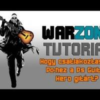 Hogy csatlakoztassuk Pc-hez a Ps Guitar Hero gitárt?