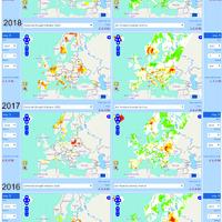 2018 – nyári hőhullámok és aszály Európa északi részén