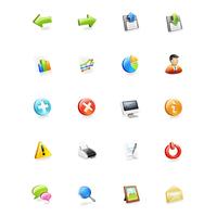 Web alkalmazások ikon set