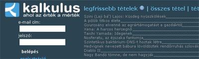 kalkulus.hu - webkettő véleményportál