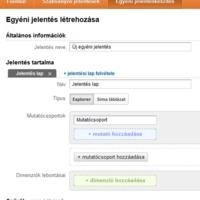 Egyéni jelentések létrehozása a Google Analytics-ben