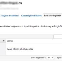 Google Analytics Remarketinglisták