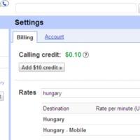 Gmailből 4,5 forint/percért hívható Magyarország?