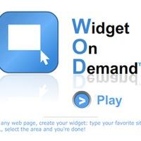 Widget, tetszőleges webszájtdarabból