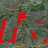 Részletes műholdképek Magyarországról