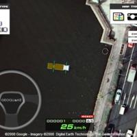 Autós szimulátor a Google Mapsen
