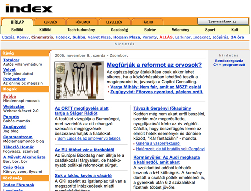 ab2c819eeb Megújul az Index - vége a világnak!!!44!4444!!! - Webisztán