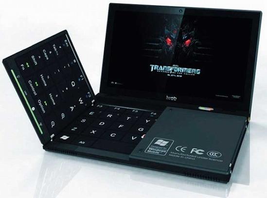 összecsukható laptop