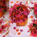 Pink-narancs esküvő