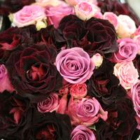 A nap képe - pink-vörös menyasszonyi csokor