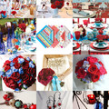 Színes esküvők - kék és piros