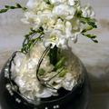 Fekete-fehér csokor - esüvői asztaldísz IV.