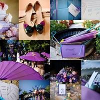 Kék, lila - elegáns színek esküvőre