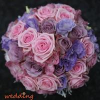 Kis előzetes a jövő hétre - lila és rózsaszín menyasszonyi csokor