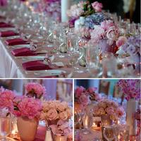 A pinkből sosem elég! - romantikus esküvői asztaldísz
