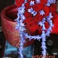 Bordó lila menyasszonyi csokor