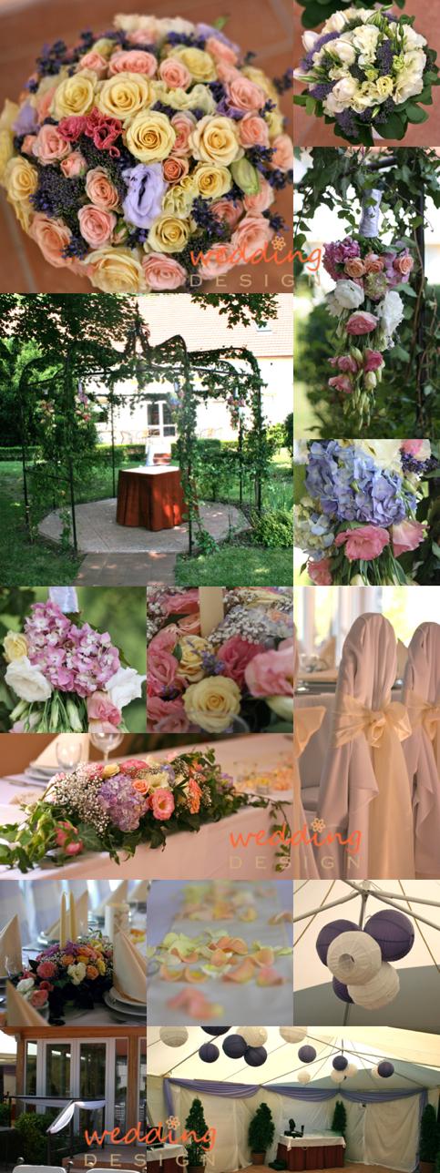 b00ff9e8df ... és az asztalokra is krém futókat tettünk, amelyeket krém és barack  rózsaszirommal szórtunk meg. Mivel keskeny asztalok voltak, így az esküvői  ...