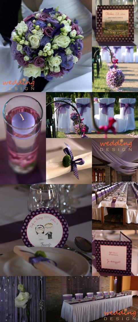 280fbab852 2011.09.23. 08:42 :: scs · Lila esküvői dekoráció