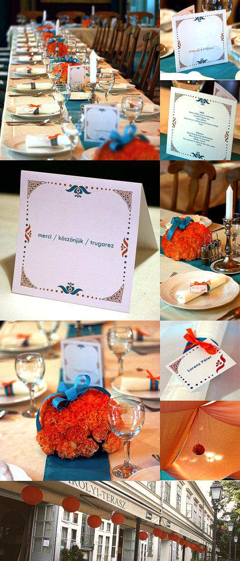Türkiz és narancs esküvő - Wedding Design Blog - esküvő stílusosan 07dfd76077