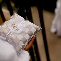 Kókuszdió, megszeppent tacskó, patchwork – variációk gyűrűpárnára