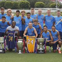 Kobe a Barca edzésén