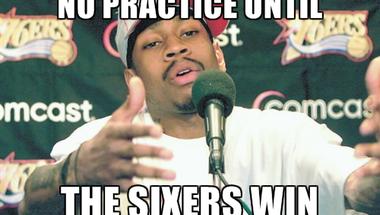 Iverson addig nem edz, amíg a Sixers nem nyer