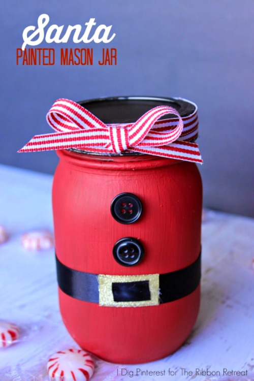 Forrás:http://www.theribbonretreat.com/blog/santa-painted-mason-jar.html