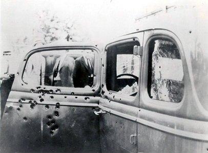 A szétlőtt autó