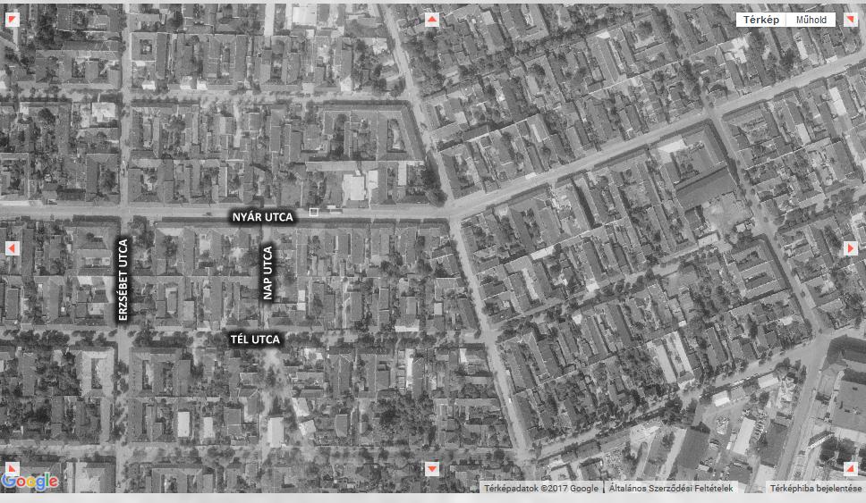 Légifelvétel a Tél utca környékéről (1963)