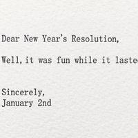 Újévi fogadalom (helyett)