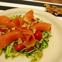 Citromos füstölt lazacos saláta