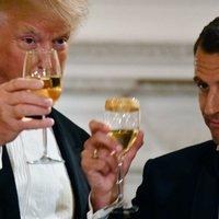 Trump Macronnal borozott!