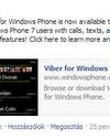 Breaking News! Viber WP 7.x modellekre is!