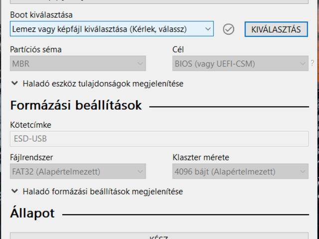 Windows 7 telepítése Pendriveról - telepítő készítése usb-re - Rufus