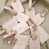 Sweetness - Egyedi bőr bőrönd címkék