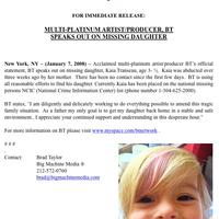 Eltűnt BT kislánya