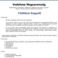 Angyal a Vodafone-nál