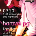 Partypromó: Hamvai PG flyer és banner