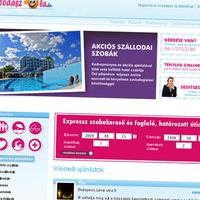 Az első hazai, teljesen online szobafoglalási portál (design, fejlesztés)
